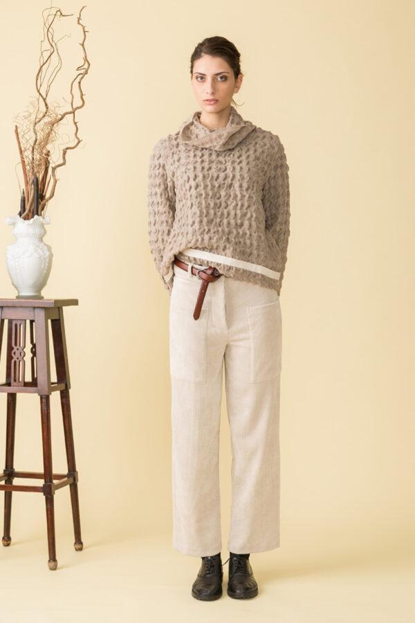 pantalone donna in velluto a coste da una linea vintage