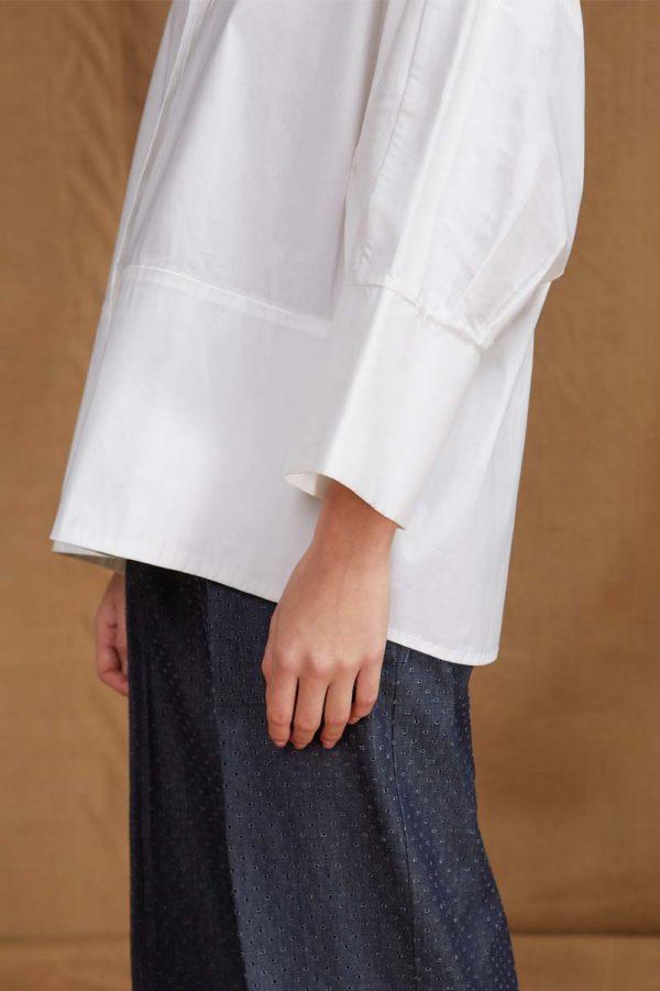 camicia dalla linea ampia con manica a kimono